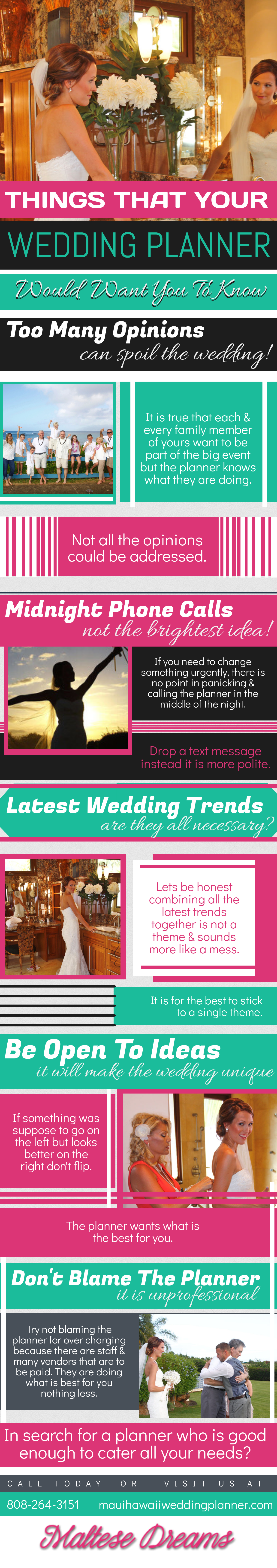 Things that Your Wedding Planner Would Want You to Know [ Infographic ]