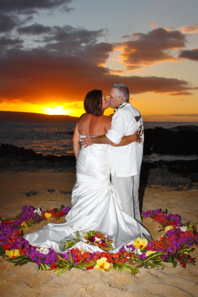 picture showing maui wedding ceremony