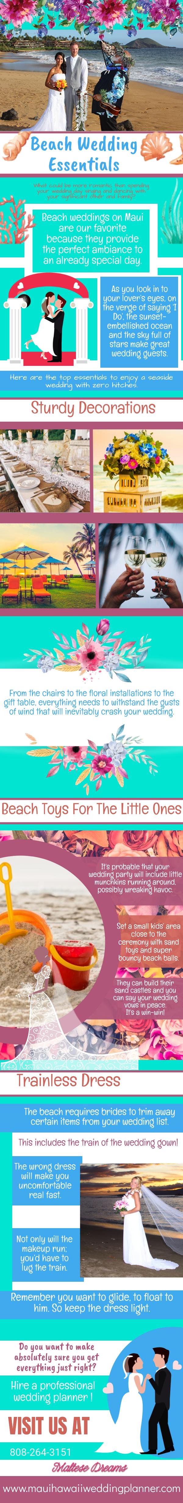 beach wedding esssentials infograph